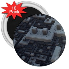 Backdrop Construction Pattern 3  Magnets (10 Pack)