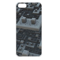 Backdrop Construction Pattern Apple Iphone 5 Seamless Case (white)