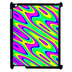 Lilac Yellow Wave Abstract Pattern Apple Ipad 2 Case (black)