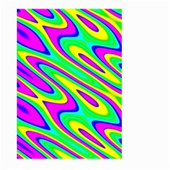 Lilac Yellow Wave Abstract Pattern Large Garden Flag (two Sides)