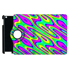Lilac Yellow Wave Abstract Pattern Apple Ipad 3/4 Flip 360 Case