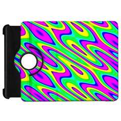 Lilac Yellow Wave Abstract Pattern Kindle Fire Hd 7