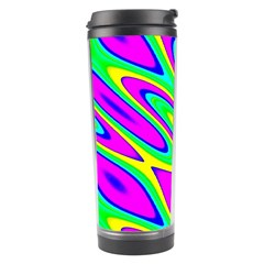 Lilac Yellow Wave Abstract Pattern Travel Tumbler