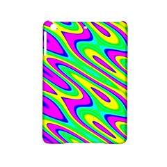 Lilac Yellow Wave Abstract Pattern Ipad Mini 2 Hardshell Cases