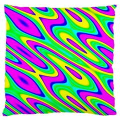 Lilac Yellow Wave Abstract Pattern Standard Flano Cushion Case (one Side)