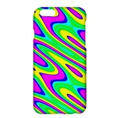 Lilac Yellow Wave Abstract Pattern Apple Iphone 6 Plus/6s Plus Hardshell Case