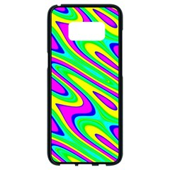 Lilac Yellow Wave Abstract Pattern Samsung Galaxy S8 Black Seamless Case
