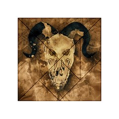 Skull Demon Scary Halloween Horror Acrylic Tangram Puzzle (4  X 4 )
