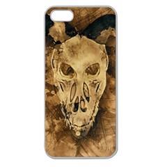 Skull Demon Scary Halloween Horror Apple Seamless Iphone 5 Case (clear)