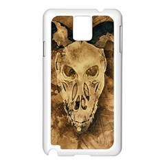Skull Demon Scary Halloween Horror Samsung Galaxy Note 3 N9005 Case (white)