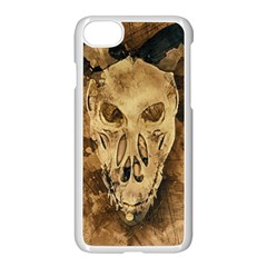 Skull Demon Scary Halloween Horror Apple Iphone 8 Seamless Case (white)