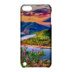 Landscape River Nature Water Sky Apple Ipod Touch 5 Hardshell Case With Stand