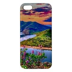 Landscape River Nature Water Sky Apple Iphone 5 Premium Hardshell Case
