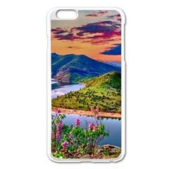 Landscape River Nature Water Sky Apple Iphone 6 Plus/6s Plus Enamel White Case