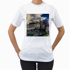 Castle Monument Landmark Women s T Shirt (white)