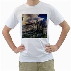 Castle Monument Landmark Men s T Shirt (white)