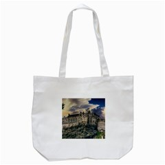 Castle Monument Landmark Tote Bag (white)