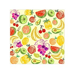 Cute Fruits Pattern Small Satin Scarf (square)