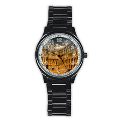 Palace Monument Architecture Stainless Steel Round Watch