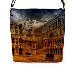 Palace Monument Architecture Flap Messenger Bag (l)
