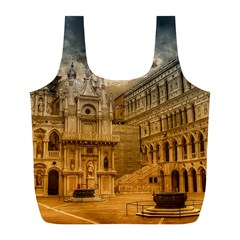 Palace Monument Architecture Full Print Recycle Bags (l)