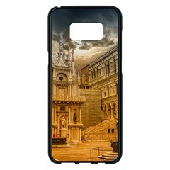 Palace Monument Architecture Samsung Galaxy S8 Plus Black Seamless Case