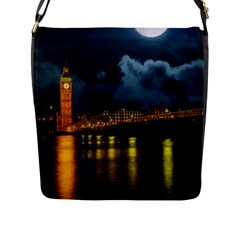 London Skyline England Landmark Flap Messenger Bag (l)