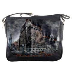 World War Armageddon Destruction Messenger Bags