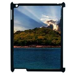 Island God Rays Sky Nature Sea Apple Ipad 2 Case (black)