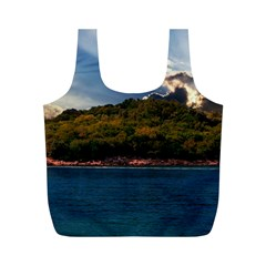 Island God Rays Sky Nature Sea Full Print Recycle Bags (m)