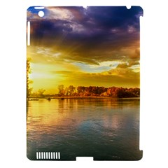 Landscape Lake Sun Sky Nature Apple Ipad 3/4 Hardshell Case (compatible With Smart Cover)