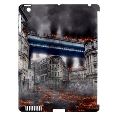 Destruction City Building Apple Ipad 3/4 Hardshell Case (compatible With Smart Cover)
