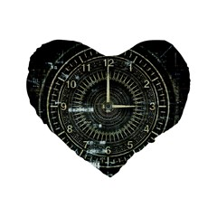 Time Machine Science Fiction Future Standard 16  Premium Flano Heart Shape Cushions