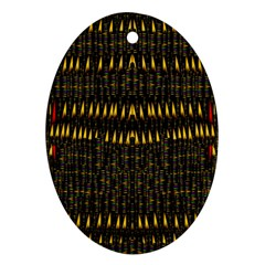 Hot As Candles And Fireworks In The Night Sky Ornament (oval)