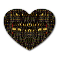 Hot As Candles And Fireworks In The Night Sky Heart Mousepads