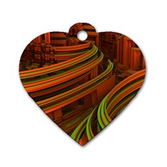 Science Fiction Technology Dog Tag Heart (one Side)