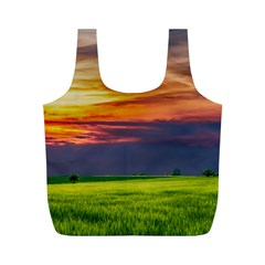 Countryside Landscape Nature Rural Full Print Recycle Bags (m)