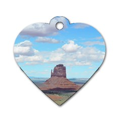 Canyon Design Dog Tag Heart (one Side)
