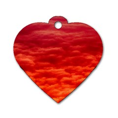 Red Cloud Dog Tag Heart (one Side)