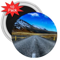 Road Mountain Landscape Travel 3  Magnets (10 Pack)