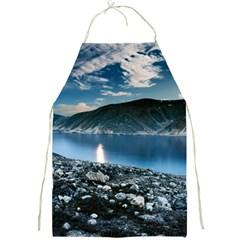 Shore Mountain Water Landscape Full Print Aprons