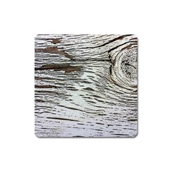 Wood Knot Fabric Texture Pattern Rough Square Magnet