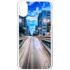 Urban Street Cityscape Modern City Apple Iphone X Seamless Case (white)