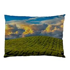 Sunrise Hills Landscape Nature Sky Pillow Case (two Sides)