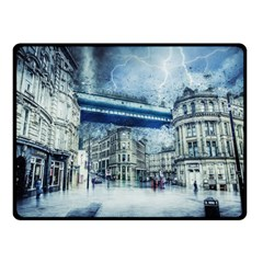 Storm Weather Nature Thunderstorm Double Sided Fleece Blanket (small)