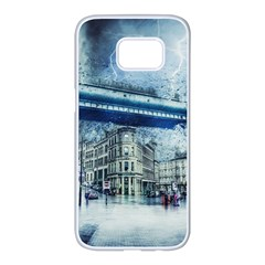 Storm Weather Nature Thunderstorm Samsung Galaxy S7 Edge White Seamless Case