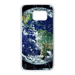 Earth Internet Globalisation Samsung Galaxy S7 White Seamless Case