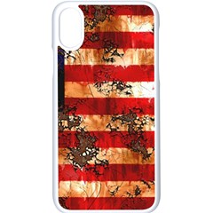 American Flag Usa Symbol National Apple Iphone X Seamless Case (white)