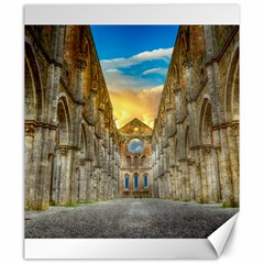 Abbey Ruin Architecture Medieval Canvas 20  X 24