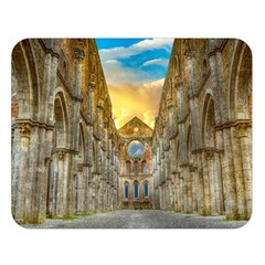 Abbey Ruin Architecture Medieval Double Sided Flano Blanket (large)